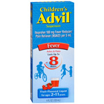 Children's Advil Ibuprofen Oral Suspension Liquid, Fruit Flavor, 4 fl oz