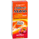 Children's Motrin Ibuprofen Oral Suspension, Fever Reducer/Pain Reliever, Berry Liquid, 4 fl oz