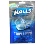 Halls Sugar Free Cough Suppressant Drops, Mountain Menthol, 25 ea
