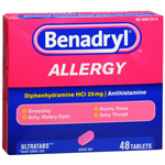 Benadryl Allergy Relief, Ultratab Tablets, 48 ea