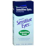 Sensitive Eyes Drops for Rewetting Soft Lenses to Minimize Dryness, 1 fl oz