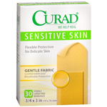 Curad Sensitive Skin Adhesive Bandages, Regular Size, 30 ea