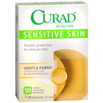 Curad Bandages for Sensitive Skin, 50 Spots