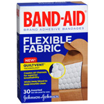 Band-Aid Flexible Fabric Adhesive Bandages, Assorted, 30 ea
