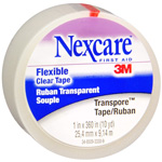Nexcare First Aid Tape, Transpore Clear, 1x360 inch (pack of 12)