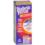 Diabetic Tussin DM Maximum Strength Cough Suppressant Expectorant, 4 fl oz