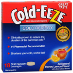 Cold-Eeze Lozenges, All Natural Honey Lemon, 18 ea