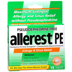 Allerest PE Allergy & Sinus Relief, Tablets, 18 ea