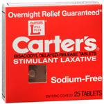 Carter's Laxative, Sodium Free, 25 ea