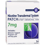 Habitrol Nicotine Transdermal System Step 3, 7mg Stop Smoking Aid, 14 ea
