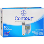 Bayer Contour Blood Glucose Test Strips, 100 ea