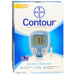 Bayer Contour Blood Glucose Monitoring System, Blue, 1 ea