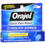 Orajel Mouth Sore Medicine, Gel, .42 oz