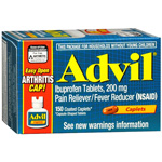 Advil Advanced Medicine for Pain, Easy Open Cap, 200mg, Caplets, 150 ea