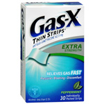 Gas-X Extra Strength Thin Strips, Peppermint, 30 ea
