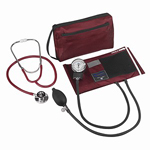 MatchMates Dual Head Stethoscope Combination Kit, Burgundy, 1 ea