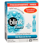 AMO Blink Tears, Lubricating Eye Drops, Sterile Single-Use Vials, Preservative Free, 25 ea