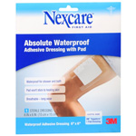 Nexcare Absolute Waterproof Adhesive Dressing with Pad, 6 in x 6 in, 1 ea
