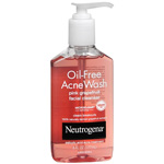 Neutrogena Oil-Free Acne Wash Facial Cleanser, Pink Grapefruit, 6 fl oz