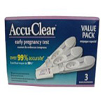 Accuclear Early Pregnancy Test, 3 ea