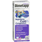 Dimetapp Children's Nighttime Cold & Congestion , Grape, 4 oz
