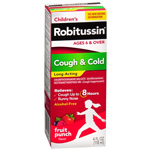 Robitussin Children's Cough & Cold Long-Acting , Fruit Punch, 4 fl oz