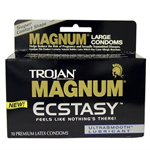Trojan Magnum Ecstasy, Premium Latex Condoms, 10 ea