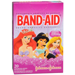 Band-Aid Children's Adhesive Bandages, Disney Princess Assorted, 20 ea