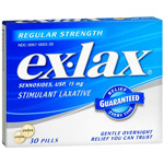 Ex-Lax Stimulant Laxative, Regular Strength - 30 Pills