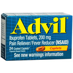 Advil Pain Reliever/Fever Reducer, 200 mg, Coated Caplets - 24 each