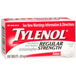 Tylenol Regular Strength, 100ct Tabs