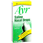 Ayr Saline Non-Medicated Nasal Drops - 50 Ml