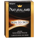 Trojan Condoms Trojan Naturalamb Skin 3 Pack Condoms