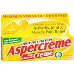 Aspercreme Pain Relieving Creme - with Aloe, Maximum Strength Formula, 1.25 oz