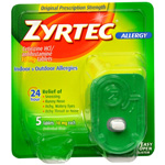 Zyrtec 24 Hour Allergy Tablets 10 mg, 5 ct