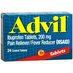 Advil Pain Reliever Fever Reducer Coated Tablets 24ea.
