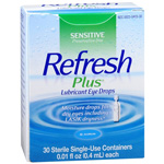 Refresh Plus Lubricant Eye Drops - 30 Ct