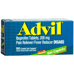 Advil Pain Reliever/Fever Reducer 200mg Coated Gel Caplets 100ea