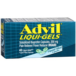 Advil Liqui-Gels Pain Reliever/Fever Reducer 200 mg 40ea