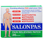 Salonpas Pain Relief Patches, 20 Ea (10 pack)