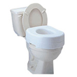 Carex Raised Toilet Seat with Blow Molded, Model: B302-C0 - 1 ea