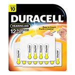 Duracell Easy Tab 1.4 Volt Zinc Air Battery DA10B8ZM - 8 Pack
