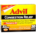 Advil Congestion Relief Coated Tablets 20 ea