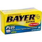 Bayer Extra Strength Plus Buffered Aspirin Caplets - 50 Ea