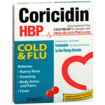 Coricidin HBP Cold and Flu Tablets for People With High Blood Pressure - 10 Ea