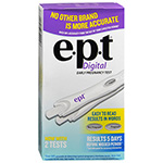 EPT Digital Early Pregnancy Tests, 2 Ea
