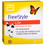 FreeStyle Lite Blood Glucose Test Strips - 50 Ea