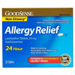Loratadine 24 Hour Allergy Relief Tablets with 10 mg Antihistamine - 20 Ea