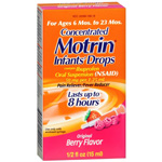 Motrin Infant's Pain Reliever/Fever Reducer, Infants' Drops, 0.5 oz