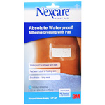 Nexcare First Aid Waterproof Adhesive Dressing with Pad 3-1/2 x 6